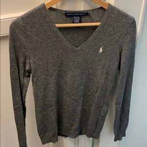 Polo Ralph Lauren Gray Sweater - Size Medium